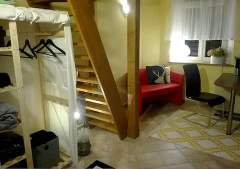 Studiový apartmán v secesní Ville Frank u kolonády