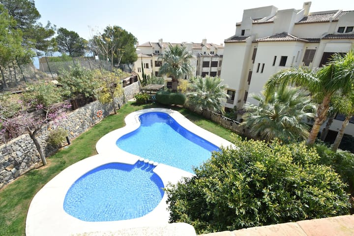 Luxury apartment in Altea close to the sea with shared swimming pool