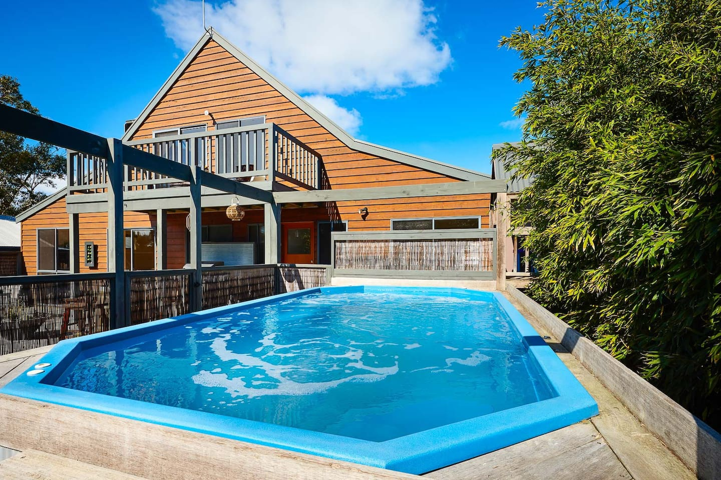 Heated pool in a private setting...