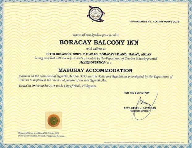 Boracay Balcony Inn Small room 10