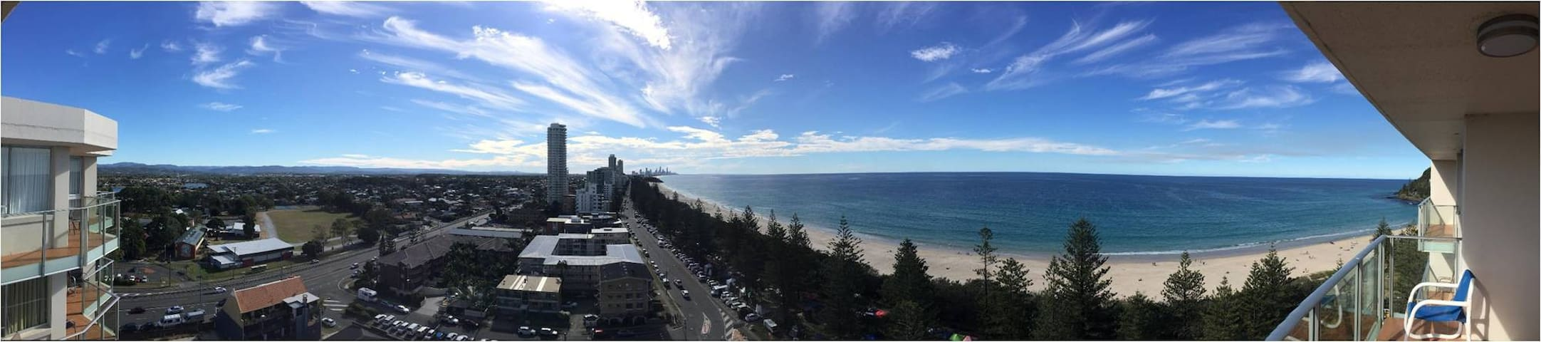 Panoramic view from the balcony