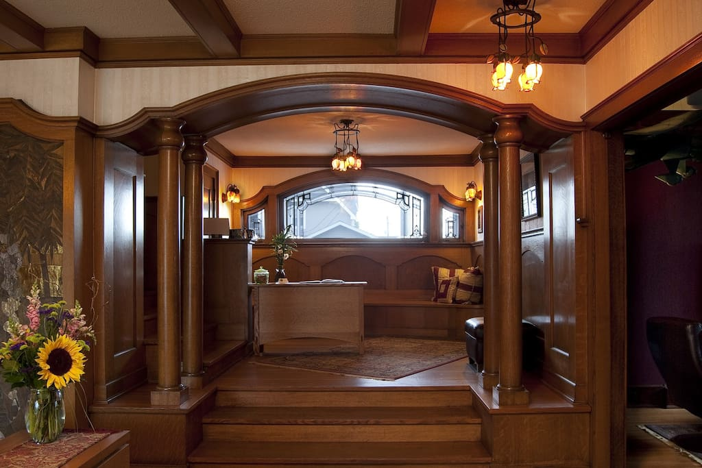The stairway landing is a perfect place to renew your vows