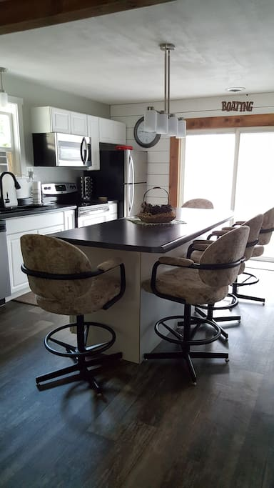 Kitchen island with comfortable seating