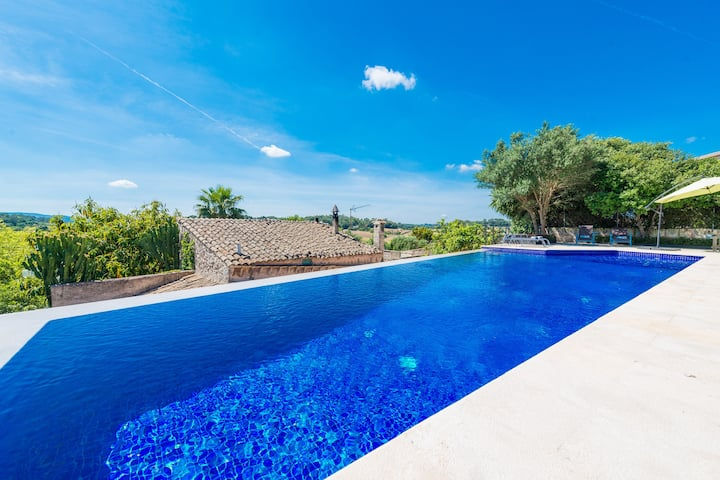 ES MOLI - Villa with private pool in SINEU.