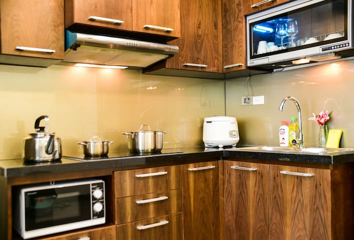 2BR APT in CauGiay💎W/kitchen💎Great for Business