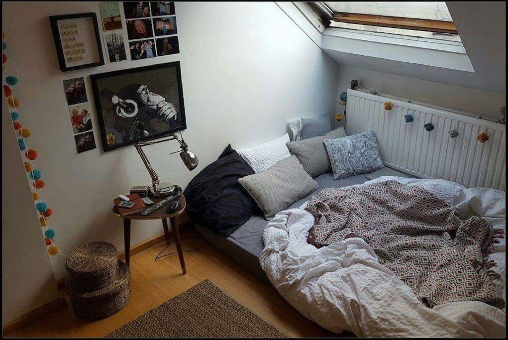 Chambre calme +- 25m²