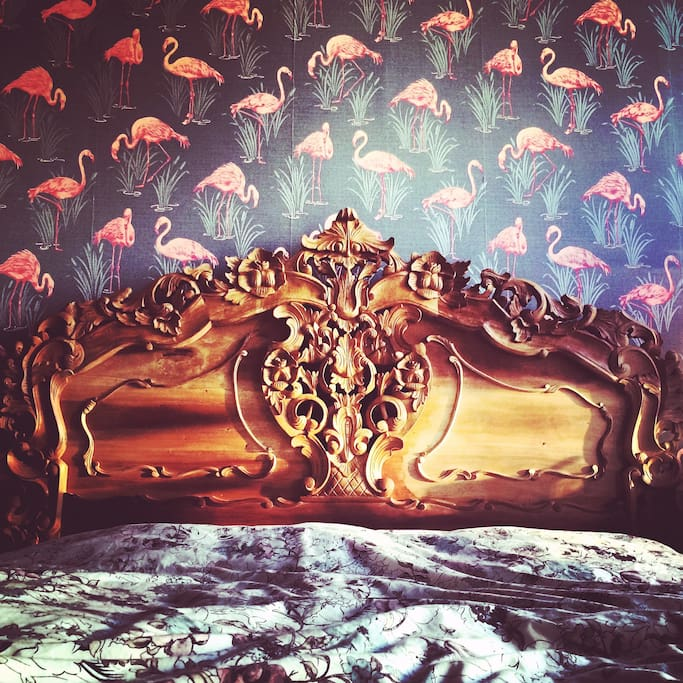 Funky hipster and rococo interior design.