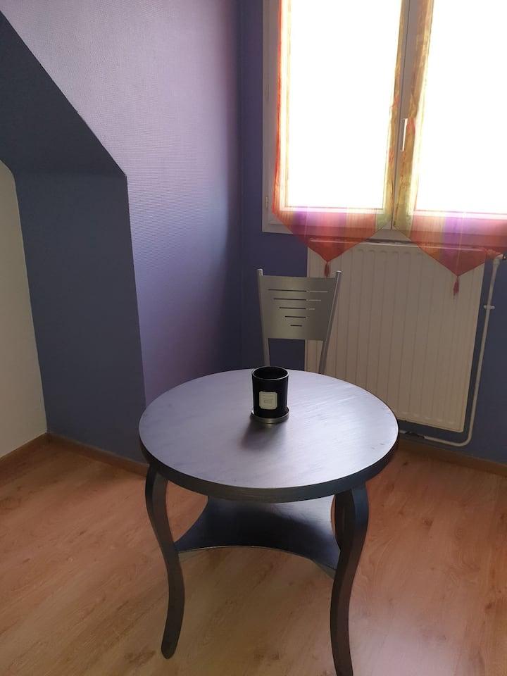 Maison grillés bleues