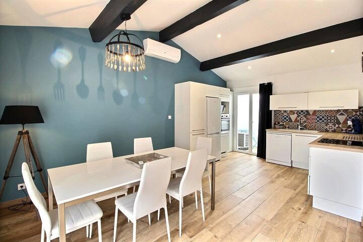 Agréable villa proche de la mer!