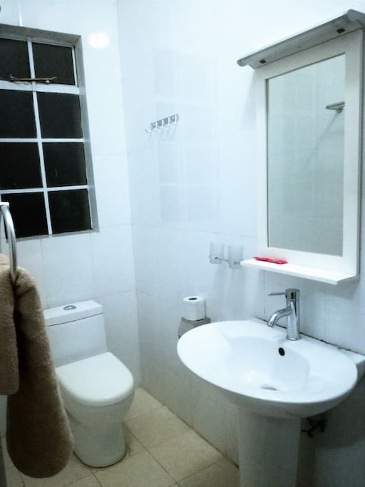 Own private toilet attached to bathroom