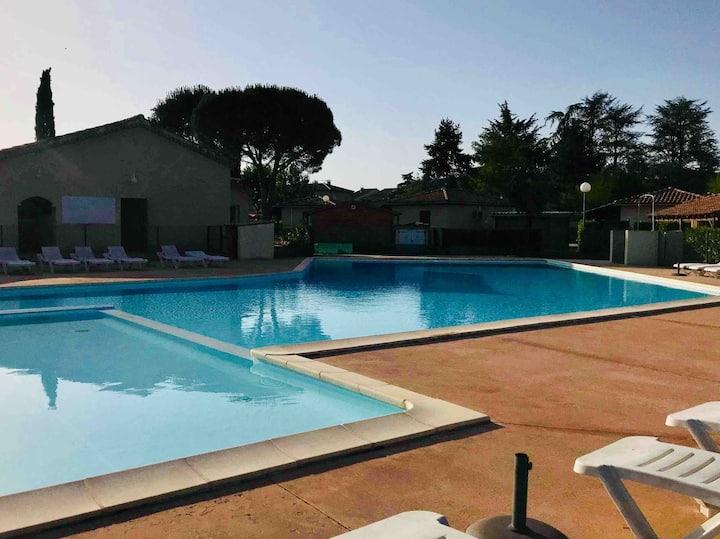 Gîte/Maison climatisé piscine Ardèche Sud 2/5 pers