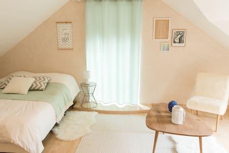 Chambre tout confort, salle de bain privée à Nozay - Nozay - Hus