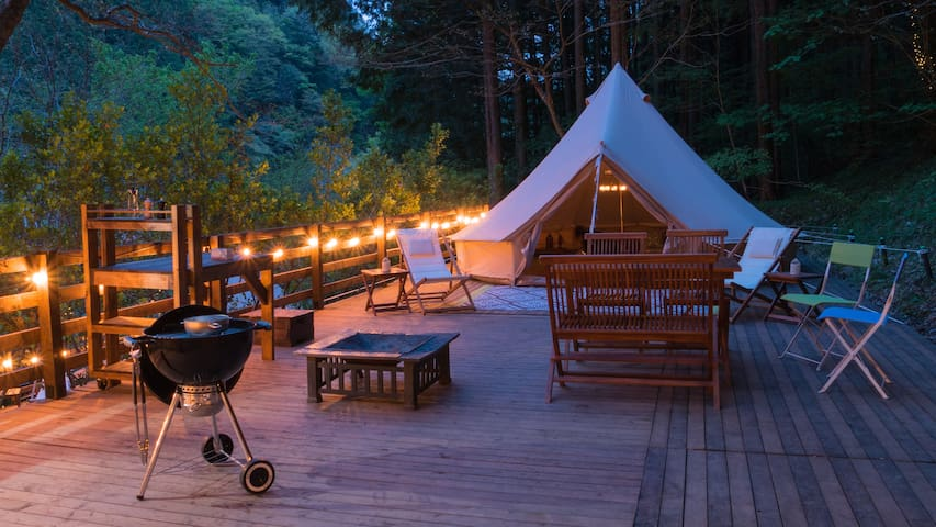 The only village in Tokyo Hinohara Glamping siteA
