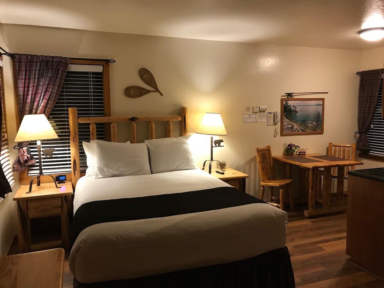 Comfortable condo with rustic decor