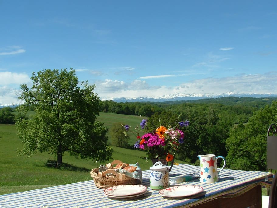 Breakfast with Pic Du Midi