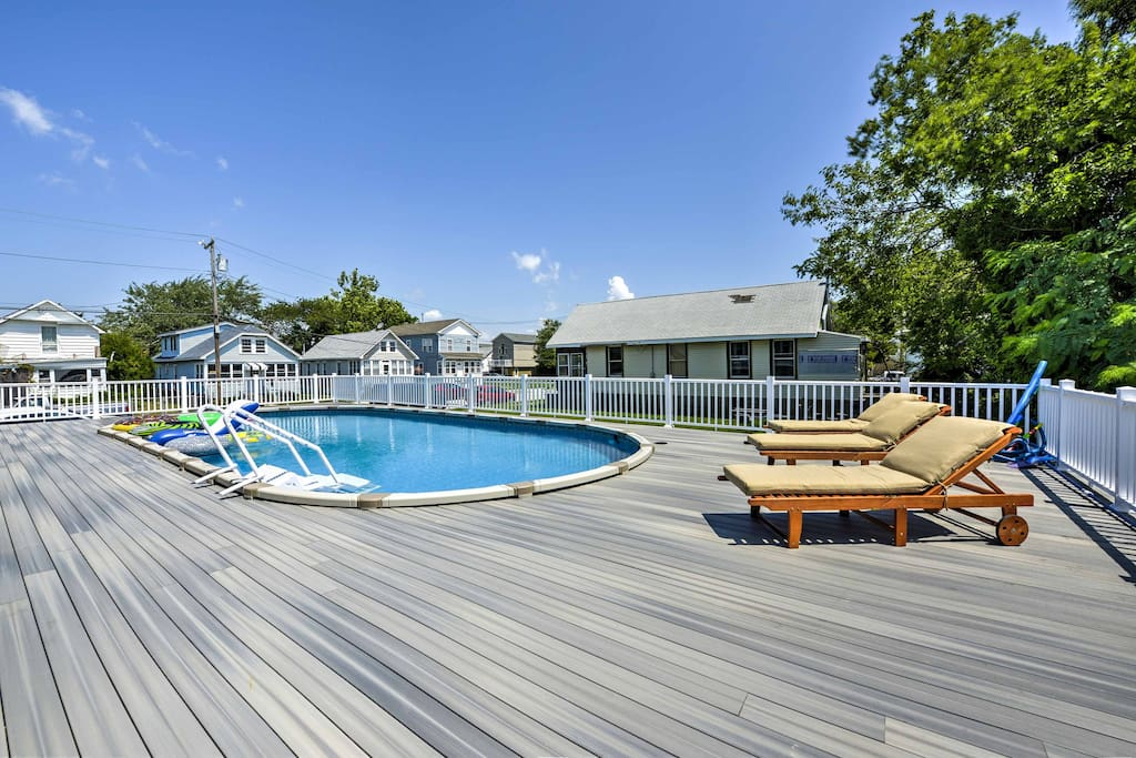 Boasting modern amenities, a private pool, and easy access to the beach, this New Jersey property is a slice of heaven!