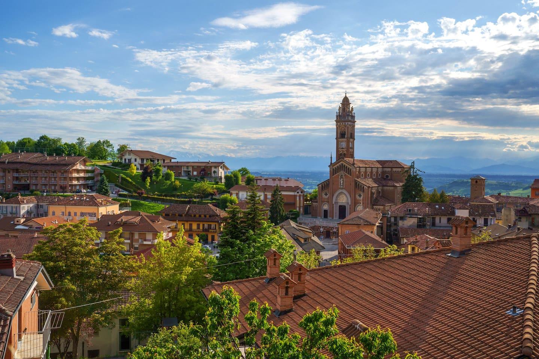View from the Apartament, Monforte d'Alba