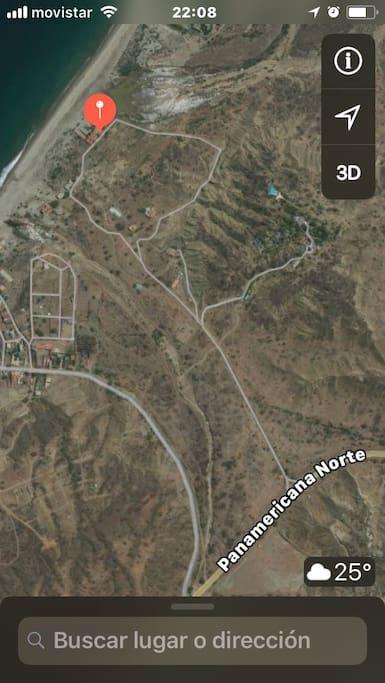 Pasando la entrada al pueblo de Punta Sal.