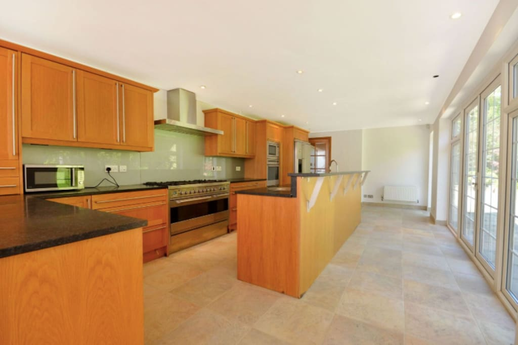 The recently fitted kitchen with all amenities including a microwave