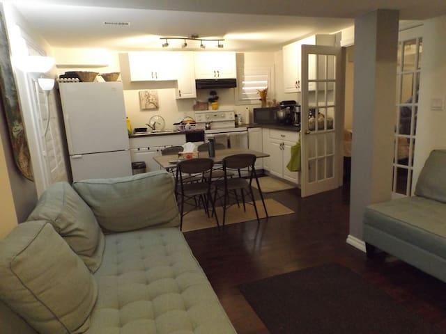 One bedroom walkout basement apartment