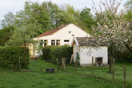 Mooie boerderij cottage; Klein Geer - Heythuysen - Blockhütte
