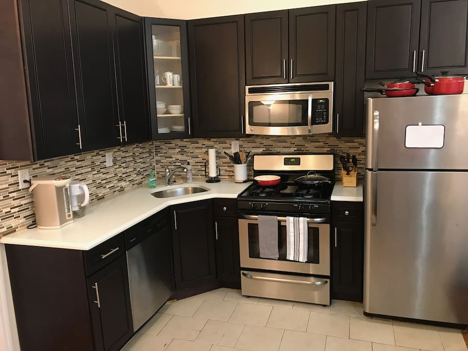The kitchen is available for use by guests.