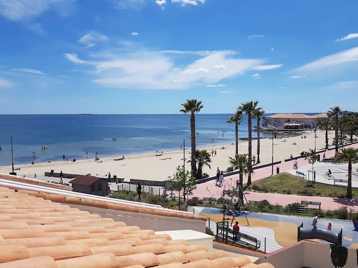 Appartement T2  avec terrasse MAGNIFIQUE vue plage
