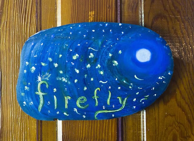 The Firefly Room at the Laughing Heart Lodge