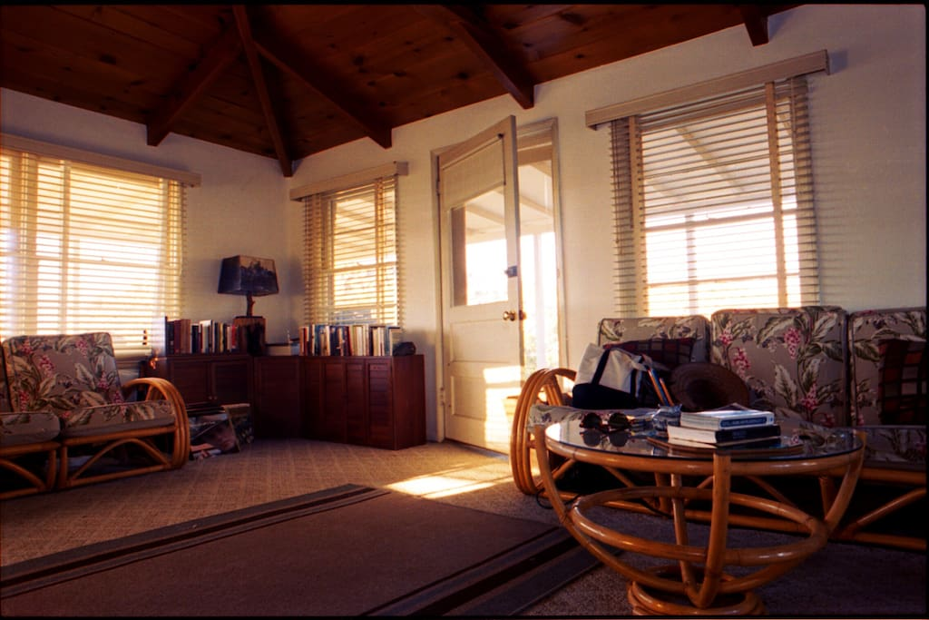 Evening light in the living room