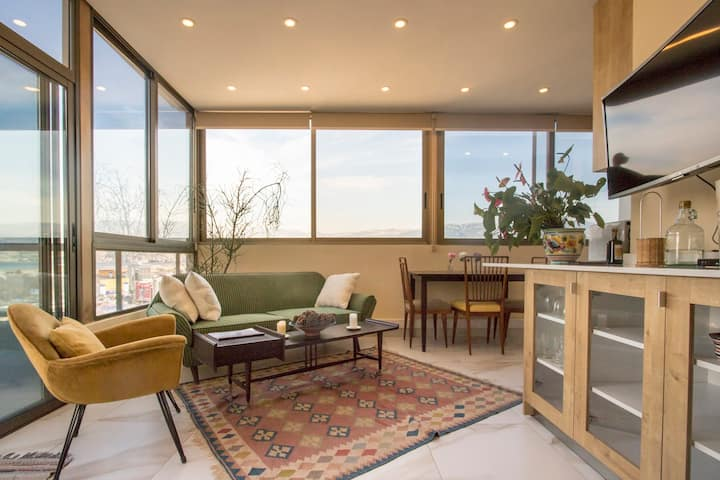Panoramic view | Cosy Rooftop | Mar Mikhael