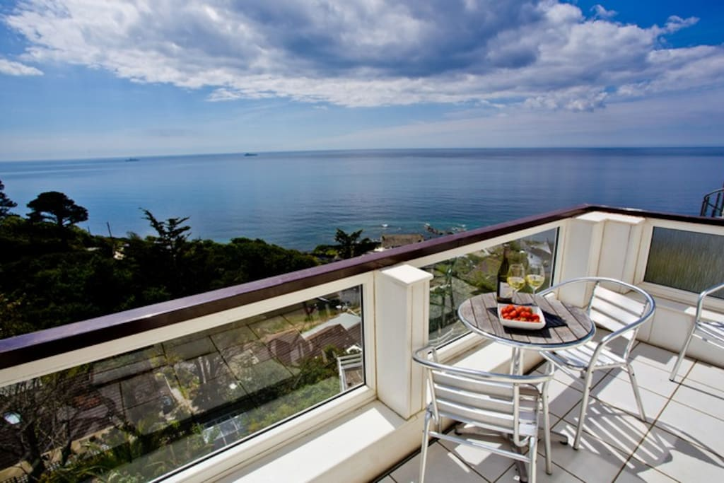 the kitchen terrace -a perfect place to take in the view..