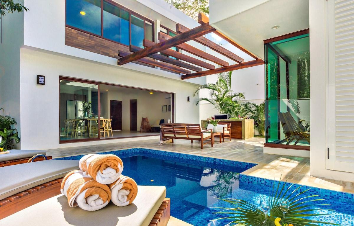 Casa sieva brm luxury villa case in affitto a tulum quintana