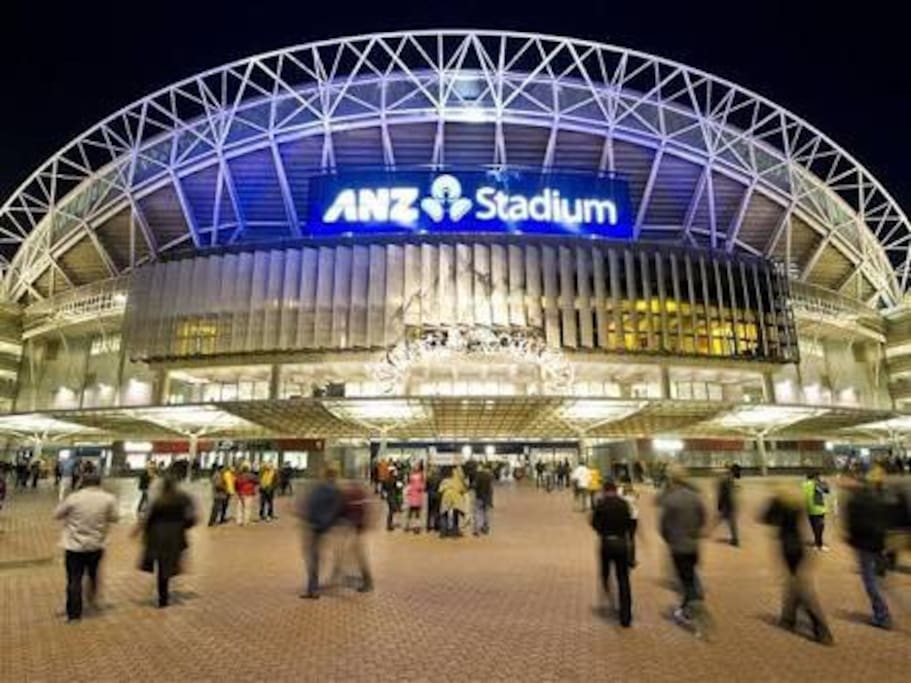 Sydney Olympic park stadium for events.