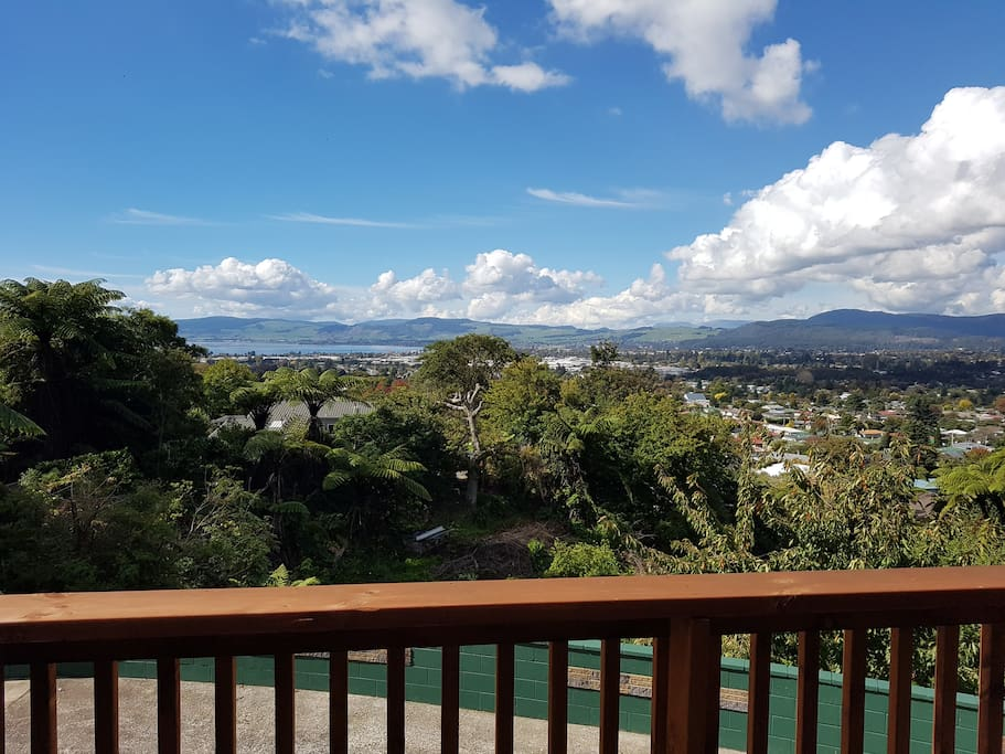 View to Lake Rotorua and beyond