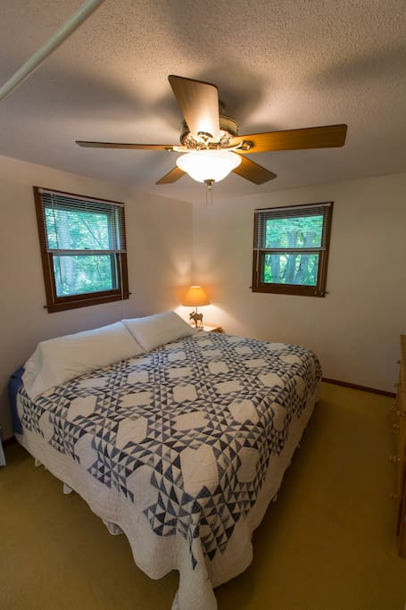 room with a king size bed