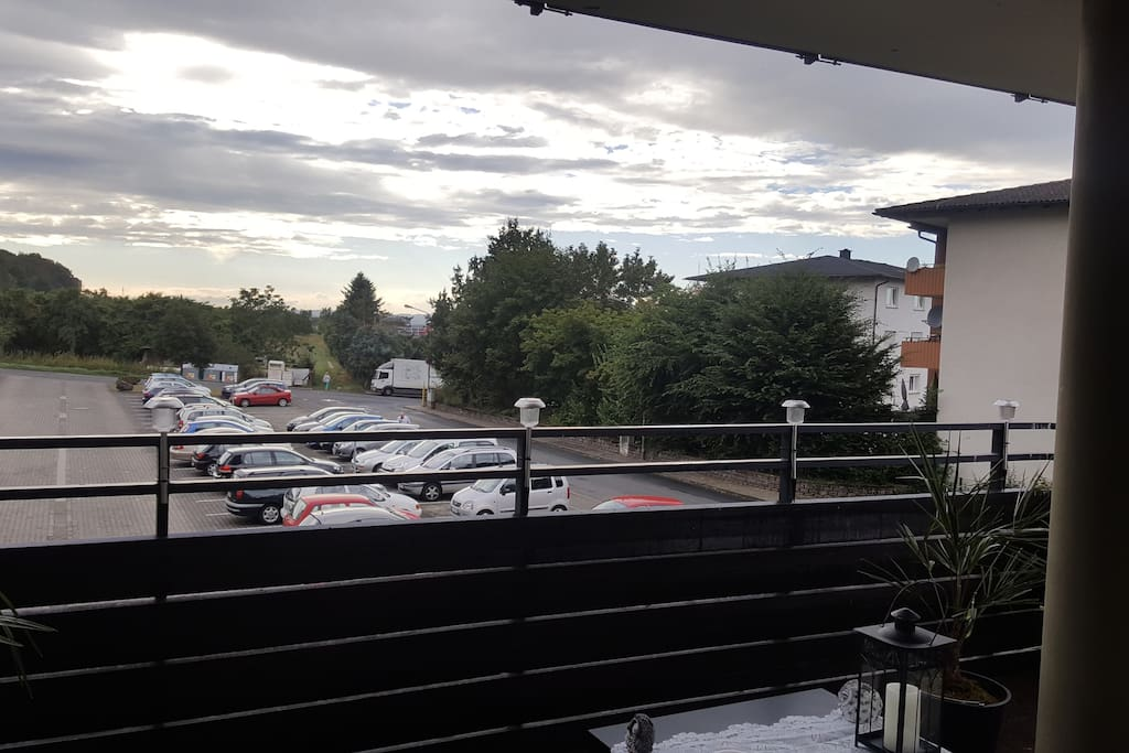 Ausblick vom Balkon. Abens super Ausblick!!!!
