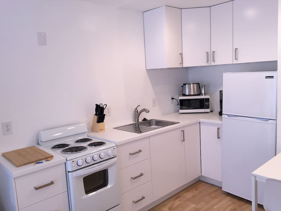 brand new kitchen with all new appliances