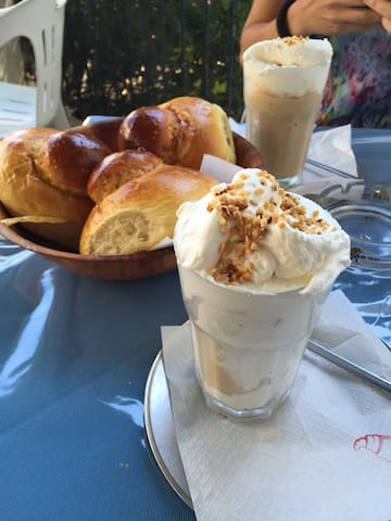 """Ask for a """"Granita"""" at the bar just in front of the house. It's the typical sicilian breakfast, but you can have it also in the afternoon. The bars in town also make a very good hand-made ice-cream :)"""