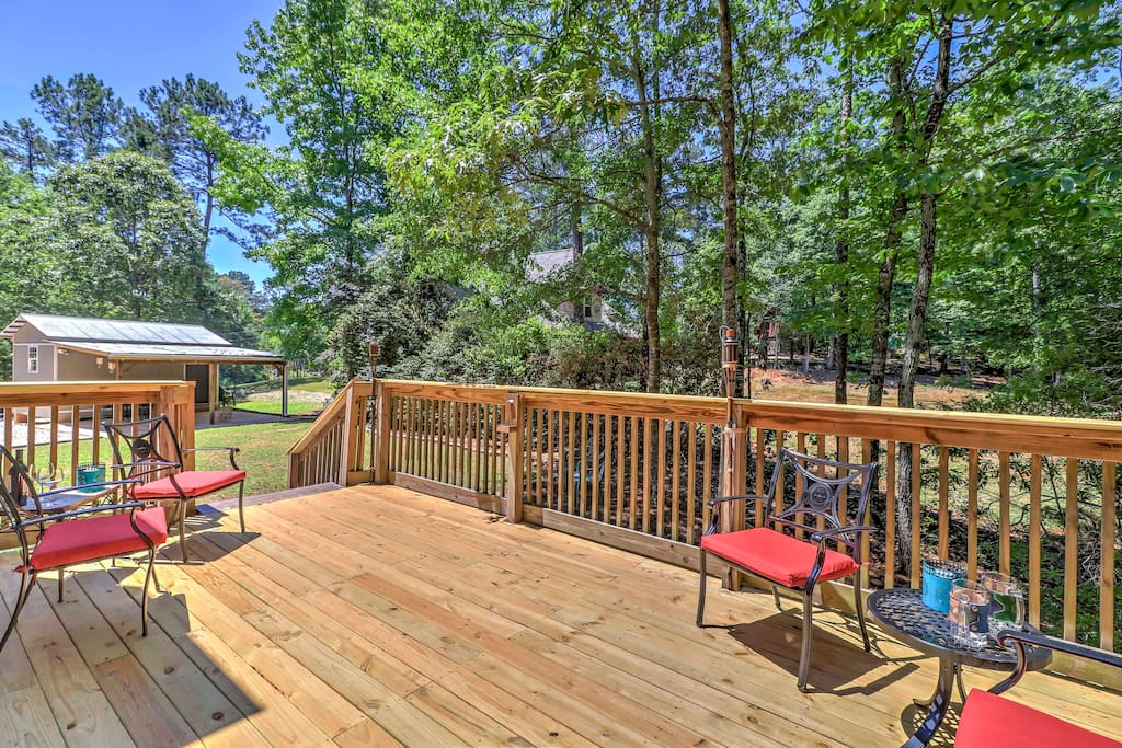 Relax on the deck and enjoy the soothing sounds of nature.