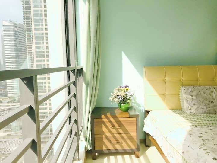 Cozy studio near Hilton & Exhibition center-25