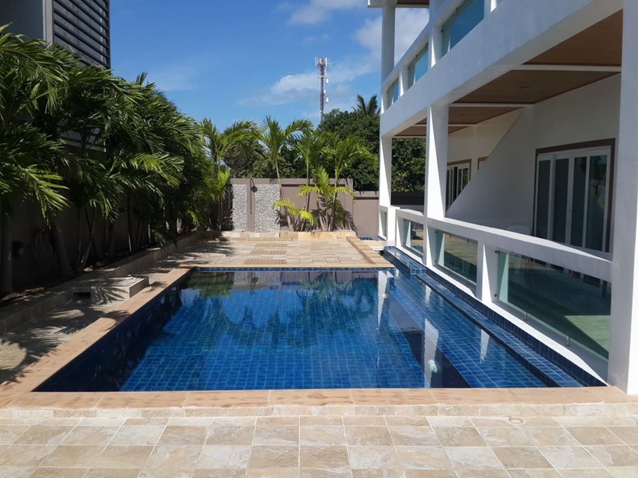 This is the communal pool but with very little use so yours almost exclusively.