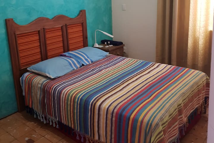 Double bedroom and pool on downtown Oaxaca