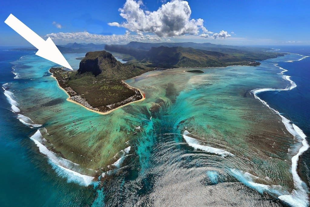 Bird view on le Morne