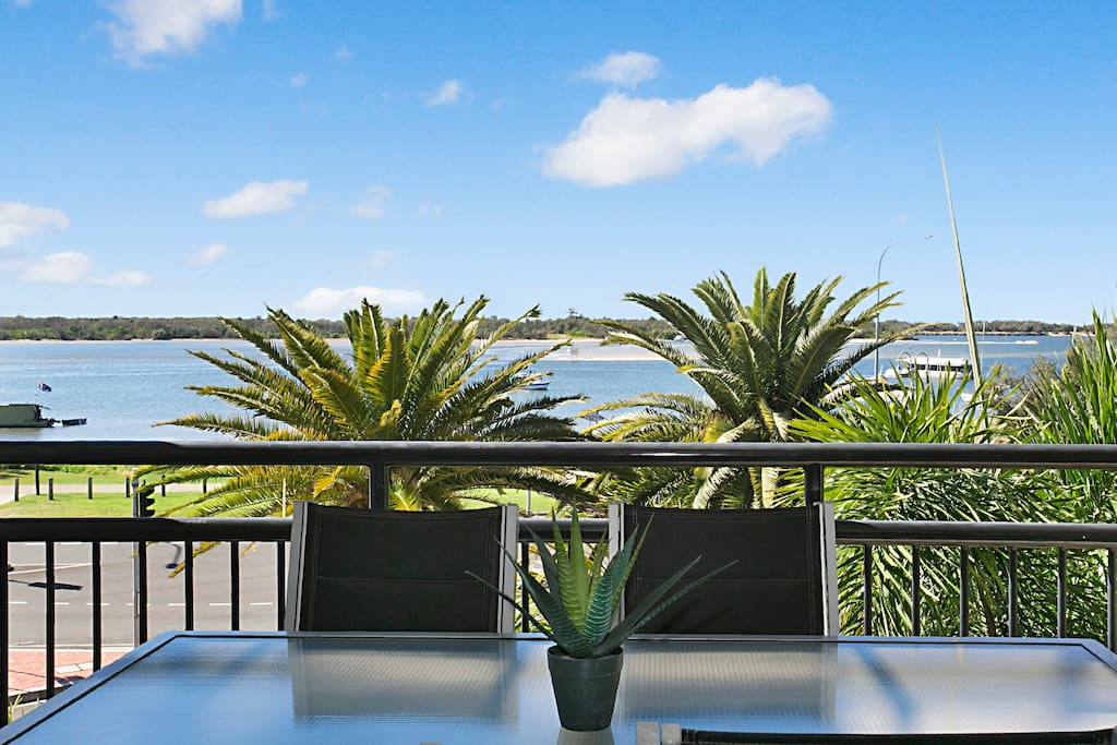 Balcony with views of the Broadwater