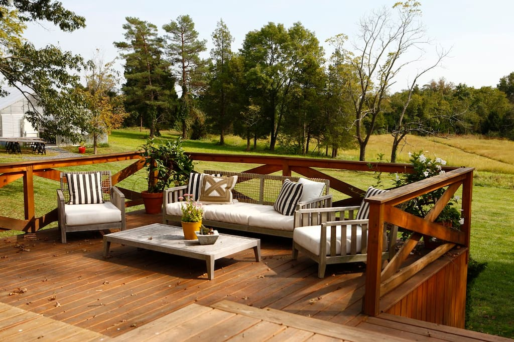 Outdoor living space on the deck