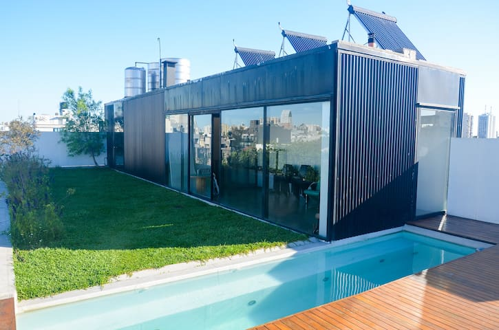Lovely Studio Green Terrace and Pool at Saavedra!