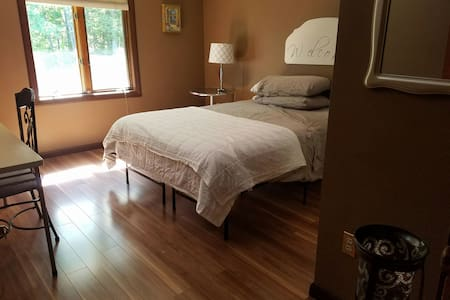 Wood floor private bedroom/bath - Casa
