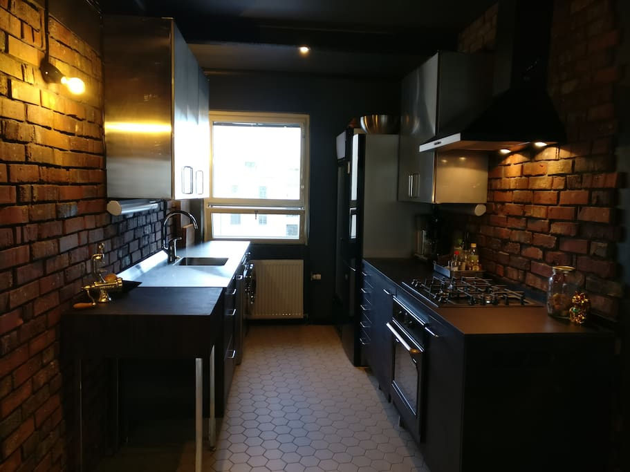 Stylish newly renovated with gas stove.