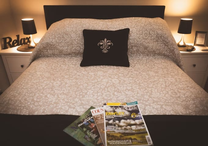 Comfortable king size bed.