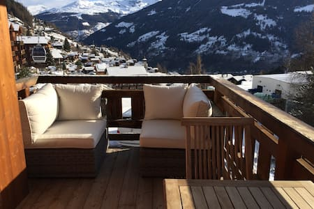 Ski in Ski out Mountain Apartment - Grimentz - Apartamento